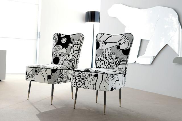 Art Deco Miami Style contemporary living room