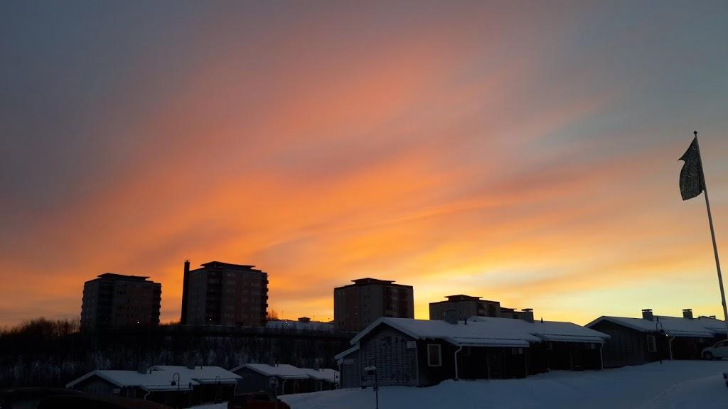 Camp-Ripan-Kiruna-sunset