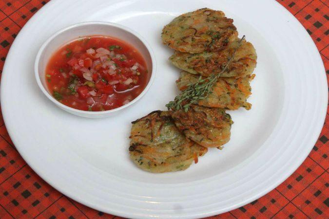 Recipe : Veg Rosti with Pico de gallo salsa