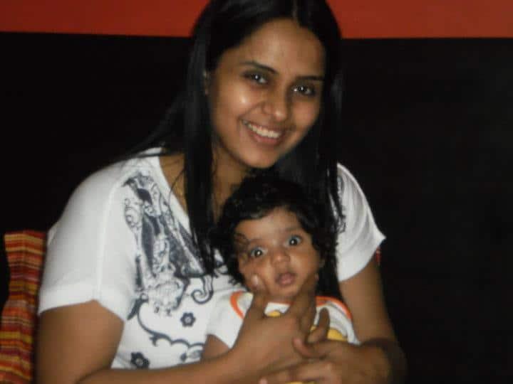 Me with my pregnancy weight- I was no yummymummy