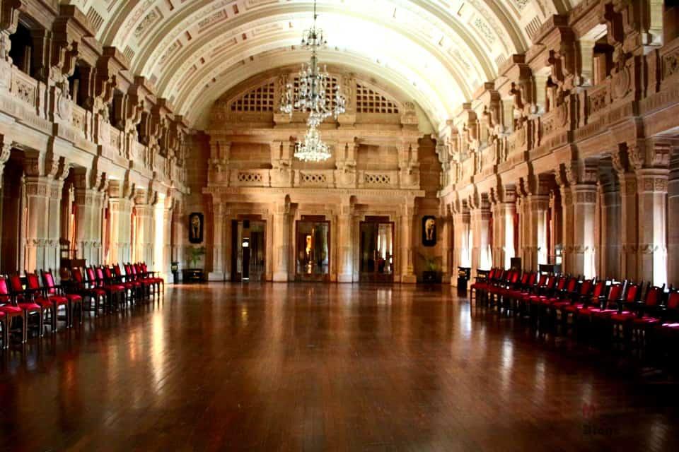 Umaid Bhawan Palace banquet hall