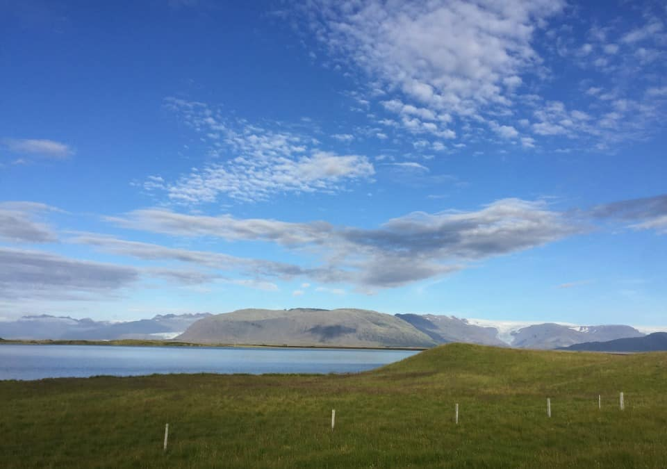 Beautiful summer landscape of Iceland