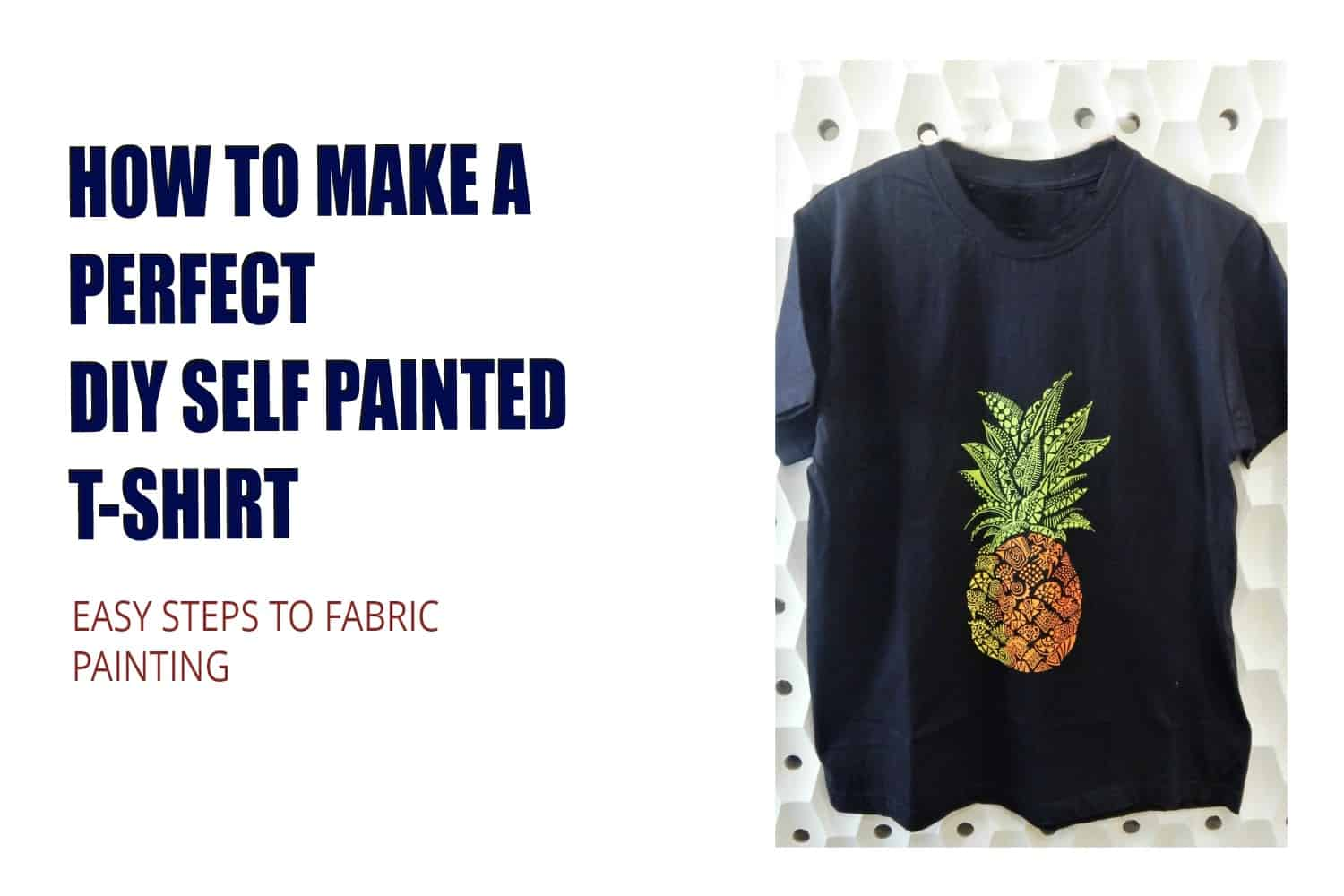 How to make a perfect self painted diy t shirt for How to paint on t shirt