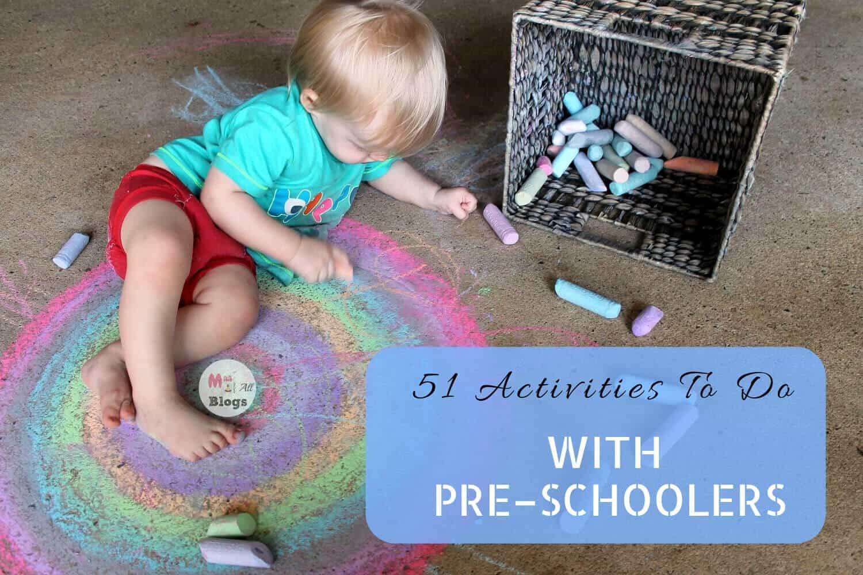 51 Activities to do with pre-schoolers