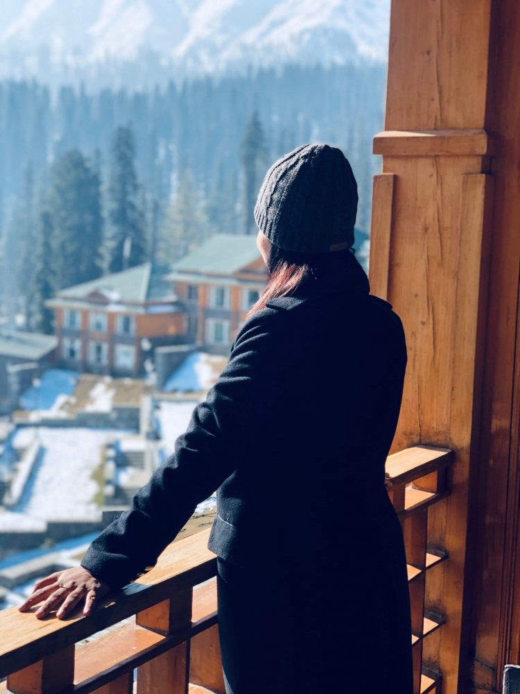View from my balcony at The Khyber Resort & Spa Gulmarg